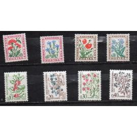 Andorre- Lot de 8 timbres neufs -Taxe