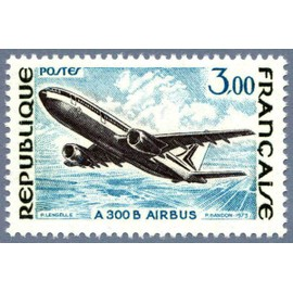france 1973, très bel exemplaire yvert 1751, avion airbus A300B, neuf** luxe