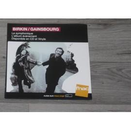PLV 30x30cm souple JANE BIRKIN - SERGE GAINSBOURG symphonique / magasins FNAC 2017