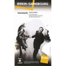PLV 14x25cm cartonnée rigide JANE BIRKIN SERGE GAINSBOURG symphonique COLLECTOR / magasins FNAC 2017