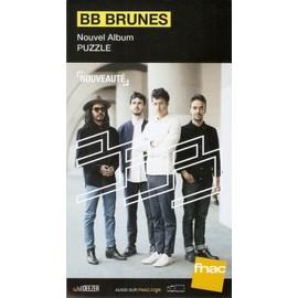 PLV 14x25cm cartonnée rigide BB BRUNES puzzle / magasins FNAC 2017