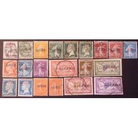Algérie oblitérés Très beau lot de 21 timbres de 1924-1925 cote 10.55 €