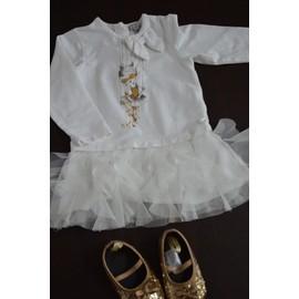 b9621418aa963 Robe Grain De Blé Robe De Noël Coton 18 Mois Blanc