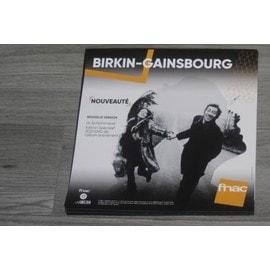 PLV 30x30cm souple JANE BIRKIN SERGE GAINSBOURG symphonique COLLECTOR / magasins FNAC 2017