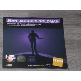 PLV 30x30cm souple JEAN JACQUES GOLDMAN singulier 81-89 / magasins FNAC 2017