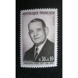 TIMBRE FRANCE (YT 1412 ) 1964 President Rene Coty (1852-1962)
