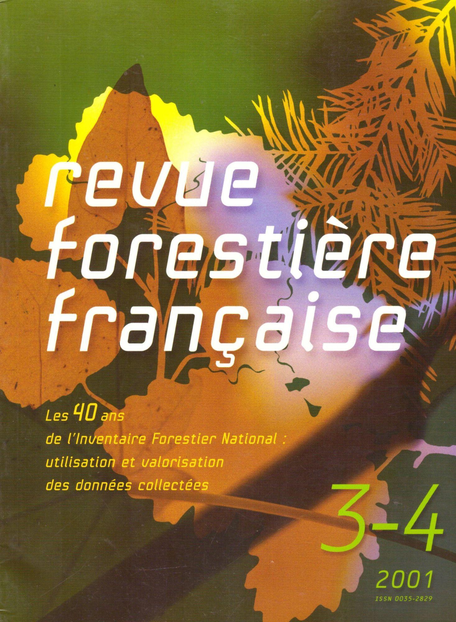 REVUE FORESTIERE FRANCAISE