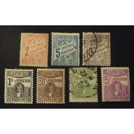 Tunisie timbres taxe (neuf et obl) lot de 7 timbres de 1901-1923 cote 4.50 €