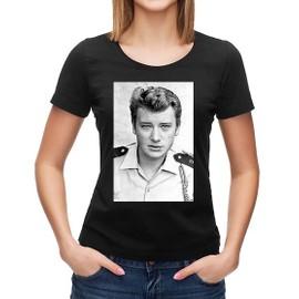 T-shirt Johnny Hallyday portrait