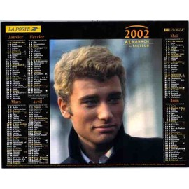 calendrier Johnny Hallyday 2002