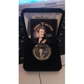Medaille collector Johnny Hallyday tour 66 + certificat