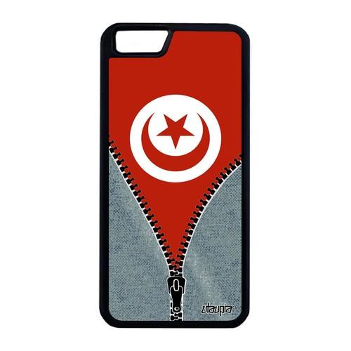 Coque iPhone 6 6S Plus silicone drapeau tunisie tunisien foot basket jeans Apple iPhone 6 Plus iPhone 6S Plus