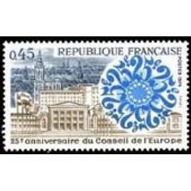 25ème Anniversaire Du Conseil De L'europe Année 1974 N° 1792 Yvert Et Tellier Luxe