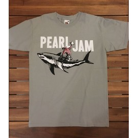 T-shirt Pearl Jam Coton S Gris (Fruit of the Loom)
