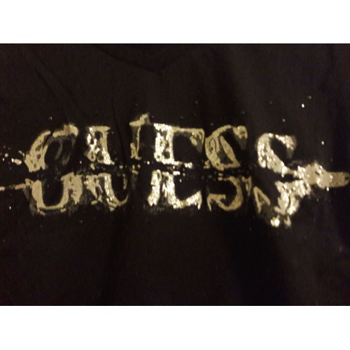 T shirt <strong>guess</strong> synthétique s noir