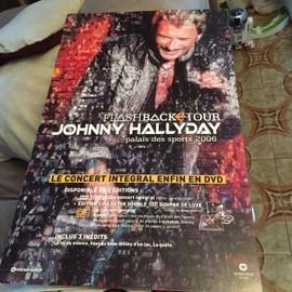 """Johnny HALLYDAY PLV """"FLASHBACK TOUR"""" 55 x 35 cms environ"""