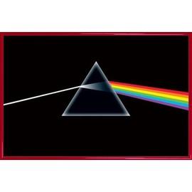 Poster encadré: Pink Floyd - Dark Side Of The Moon, Prisme (91x61 cm), Cadre Plastique, Rouge