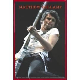 Poster encadré: Muse - Matthew Bellamy Live (91x61 cm), Cadre Plastique, Rouge