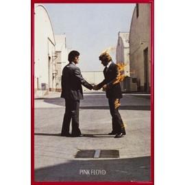 Poster encadré: Pink Floyd - Wish You Were Here (91x61 cm), Cadre Plastique, Rouge
