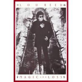 Poster encadré: Lou Reed - Magic And Loss (91x61 cm), Cadre Plastique, Rouge