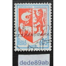 france.. armoiries de la ville d' auch (gers 32) 0f05 1966 .oblitéré used stamp.