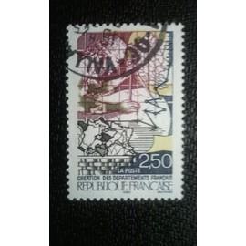 TIMBRE FRANCE (YT 2670 ) 1990 Révolution française - Création de départements français