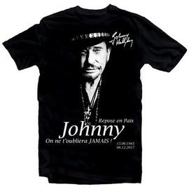 T-Shirt Fan de... Johnny Hallyday Repose en paix - homme noir