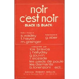 Noir c'est noir (black is black) par Johnny Hallyday / Dis-nous Dylan par les 5 Gentlemen