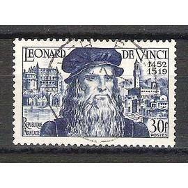 france, 1952, 5è centenaire de la naissance de léonard de vinci, n°929, oblitéré.