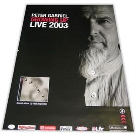 PETER GABRIEL - GROWING UP LIVE POSTER