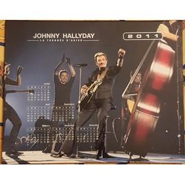 Calendrier la Poste 2011 - JOHNNY HALLYDAY - La Tournée d'Adieu