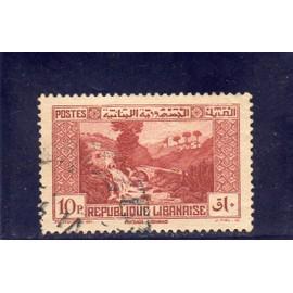 Timbre-poste du Liban (mandat français) (paysage libanais)
