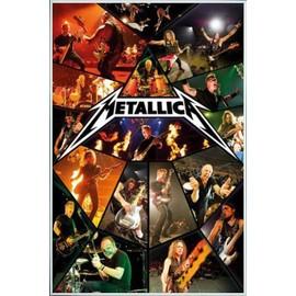 Poster encadré: Metallica - Through The Never, Live (91x61 cm), Cadre Plastique, Blanc