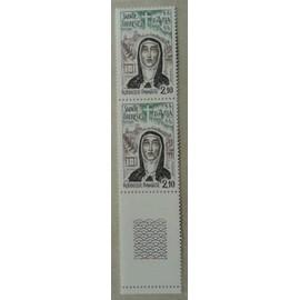 Bloc de 2 Timbres Bord de Feuille France 1982 Yvert et Tellier n°2249 Sainte Thérèse d'Avila Neuf**