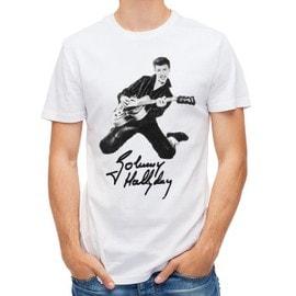 T-shirt Johnny Hallyday etant jeune
