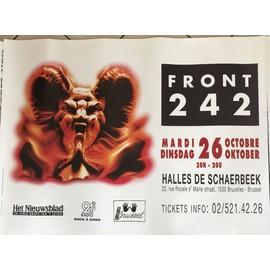 Front 242 - Concert Belgique - AFFICHE / POSTER envoi en tube - 70x100cm