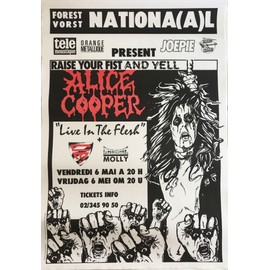 Alice COOPER - Raise Your Fist and Yell Tour 1988 - AFFICHE / POSTER envoi en tube - 70x100cm