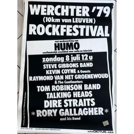 WERCHTER 1979 - RORY GALLAGHER / Dire Straits - AFFICHE / POSTER envoi en tube - 70x100cm