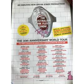 The Australian Pink Floyd Show - 30th Anniversary - AFFICHE / POSTER envoi en tube - 50x70cm