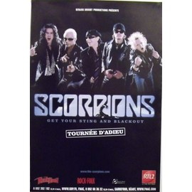SCORPIONS - Get Your Sting and Blackout - AFFICHE / POSTER envoi en tube - 80x120cm