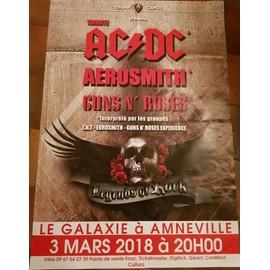 Tribute AC/DC - Aerosmith - Guns n' Roses - AFFICHE / POSTER envoi en tube - 70x100cm