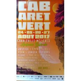 Cabaret Vert - Justice / Cypress Hill - AFFICHE / POSTER envoi en tube - 70x100cm