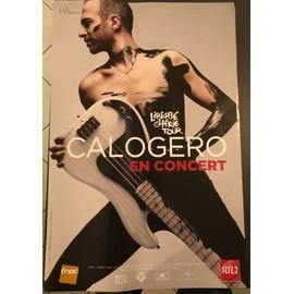 CALOGERO - Liberté Chérie Tour - AFFICHE / POSTER envoi en tube - 40x60cm