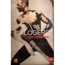 CALOGERO - Liberté Chérie Tour - AFFICHE / POSTER envoi en tube - 80x120cm
