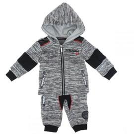 804e8b08abdd9 Costume De Jogging Bébé Avec Veste À Capuche Jog Baby En Gris Clair T  12