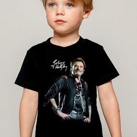 T-Shirt Enfant noir Fan de ... Johnny Hallyday star