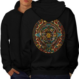 Aztec Traditionnel Men Hoodie Back | Wellcoda