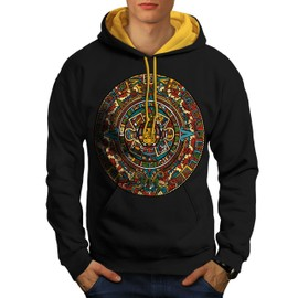 Aztec Traditionnel Men Contrast Hoodie | Wellcoda