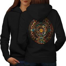 Aztec Traditionnel Women Hoodie Back | Wellcoda