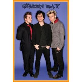 Poster encadré: Green Day - Groupe (91x61 cm), Cadre Plastique, Orange
